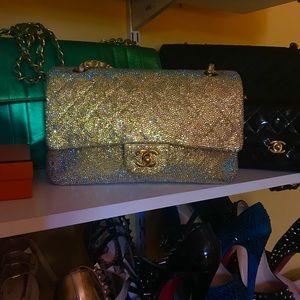 Authentic Swarovski Encrusted Chanel Bag